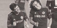 David Luiz and Oscar Dos Santos <3