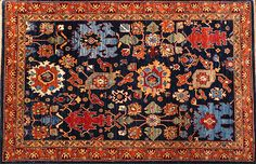 This hand knotted pile rug is made using natural dyes and handspun wool. This rug is woven with around Weaving takes place in the northern areas of White Crane, Oriental Rugs, Afghanistan, Home And Family, Bohemian Rug, Weaving, Carpet, Blue, Oriental Rug