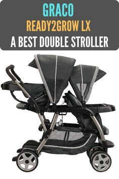 Graco Ready2Grow LX Stroller offers 12 riding options, so that you can accommodate two little ones. Its this kind of versatile design make it best double stroller for toddler and newborn. It has two lockable front-swivel wheels with suspension that give you superior maneuverability. Busy moms and dads can fold this stroller easily by one hand. Once it's folded, the stroller is self-standing and has a convenient storage latch. #bestdoublestroller #bestbabystroller #babystroller #stroller Double Stroller For Toddlers, Double Stroller Reviews, Best Double Stroller, Best Baby Strollers, Double Strollers, Travel System, Mom And Dad, Little Ones, Baby Car Seats