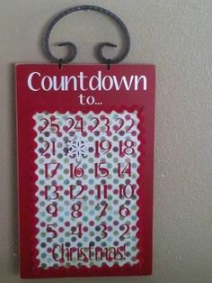 SUPER SATURDAY CRAFT KITS: Christmas Countdown Sign (Magnetic)--the  whole site is amazing! must use!