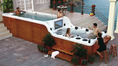Swim Spa Luxema 8000, anyone else wish they had this hot tub?