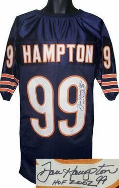 831633318c7 Dan Hampton Autographed Hand Signed Chicago Bears Navy Prostyle Jersey HOF  2002- PSA Hologram