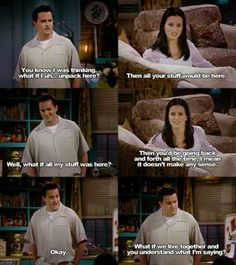 monica and chandler relationship goals funny