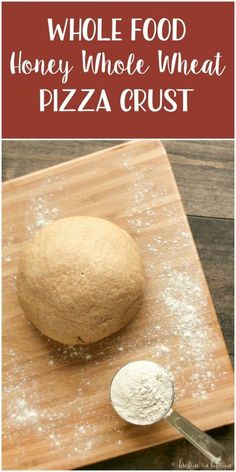 Never buy pizza dough again, this super easy honey whole wheat pizza crust tastes the best!