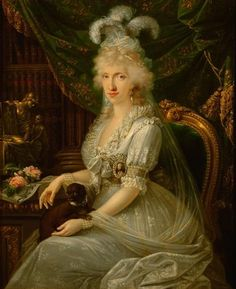 Maria Luisa of Naples & Sicily (1773-1802), daughter of Ferdinand I, King of the Two Sicilies & Maria Carolina of Austria.  Maria Luisa was a Princess of Naples & Sicily & later Grand Duchess of Tuscany (1790-1802) as wife of Ferdinand III, Grand Duke of Tuscany.