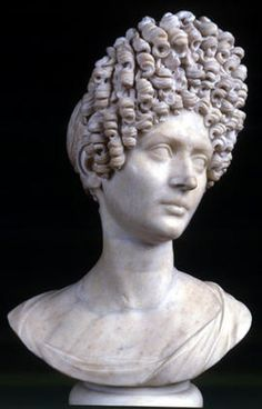 """Woman (""""Fonseca bust""""), Roman bust (marble), 2nd century AD, (Palazzo Nuovo, Rome)."""
