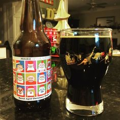 Since its supposed to snow this weekend in NC I thought I'd reach back to the holidays with my @prairieales barrel aged Christmas Bomb! and the matching Dino glassware! . . . #tbt #throwbackthursday #throwback #thursday #thirstythursday #stout #holiday #beer #craftbeer #properglassware #photooftheday #beertography #beerpics #instabeer #beerstagram #stoutseason #christmas #bomb # ##barrelaged