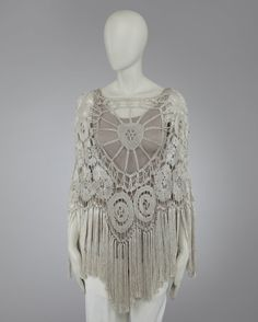 crochet poncho | Found on veganormal.blogspot.com