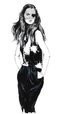 Fashion illustration - stylish fashion drawing // Diana Kuksa
