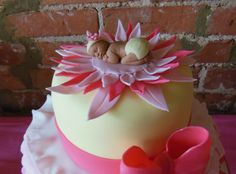baby girl/ flower cake topper