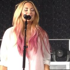 demi lovato blonde and pink hair - Google Search