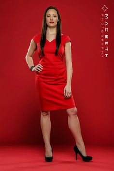 Gina on red.
