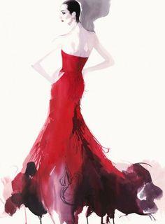 David Downton fashion illustration                                                                                                                                                     More