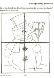 easy snowman puzzle craft