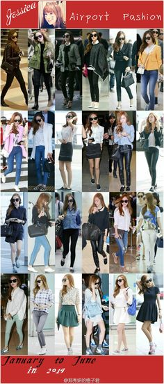 SNSD Jessica Airport Fashion January- June 2014
