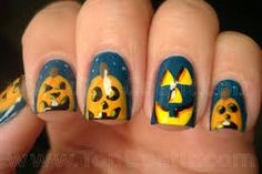 Image result for jack o lantern nails