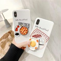 Breakfast Phone Case For max Kawaii Phone Case, Girly Phone Cases, Cool Iphone Cases, Iphone Phone Cases, Iphone Case Covers, Iphone 6, Coque Iphone, Cute Backgrounds For Iphone, Popsockets Phones