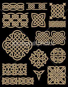 кельтский дизайн элементы набора — Векторная картинка #37567669