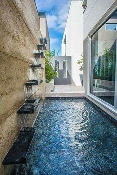 Backyard mini pool.