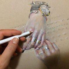 Colored pencil drawing by Georgina Kreutzer Colored Pencil Portrait, Colored Pencil Artwork, Coloured Pencils, Color Pencil Art, Realistic Pencil Drawings, Amazing Drawings, Colorful Drawings, Cool Drawings, Art Tutorials