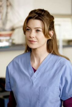 Meredith Grey---love her and her half back hair