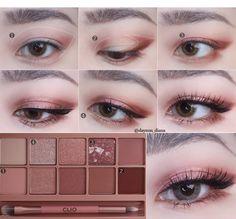 Korean Makeup Tips, Asian Eye Makeup, Eye Makeup Steps, Natural Eye Makeup, Natural Beauty, Make Up Tutorial Contouring, Makeup Tutorial Eyeliner, Korea Makeup Tutorial, Ulzzang Makeup Tutorial