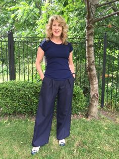 Rhonda's Creative Life: The Amber Trouser Giveaway Winner Cute Pattern, Trousers, Pants, Giveaway, Amber, Sewing Patterns, How To Make, How To Wear, Jumpsuit