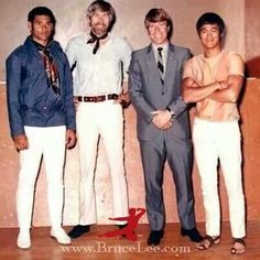 Bruce Lee, James coburn, Mike Stone and Chuck Norris