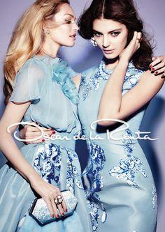 Candice Swanepoel & Katryn Kruger for Oscar de la Renta