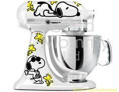 Peanuts Inspired Stand Mixer Decal for your KitchenAid Featuring Snoopy and Woodstock