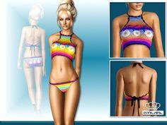 Crochet swimwear set by EsyraM - Sims 3 Downloads CC Caboodle