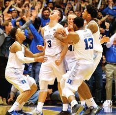 Grayson Allen after hitting the buzzer beater to beat Virginia, Feb. 13, 2016