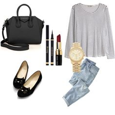 Untitled #1 by adindamutiarini on Polyvore featuring polyvore, fashion, style, H&M, Wrap, Givenchy, Michael Kors and Bobbi Brown Cosmetics