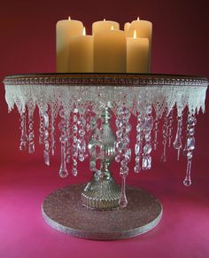 18 Round Crystal Wedding Cake stand by NobleNest on Etsy, $325.00