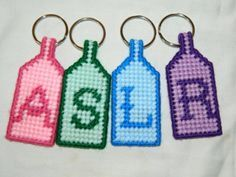 Free: PLASTIC CANVAS KEYCHAIN - Needlepoint - Listia.com Auctions for Free Stuff