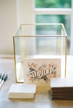 A Blush and Gold Garden-Inspired Wedding Fit for a Spring Princess Tips for the newlyweds: www. Wedding Tips, Wedding Cards, Wedding Details, Our Wedding, Dream Wedding, Wedding Advice Box, Indoor Wedding, Wedding Guest Book, Wedding Table