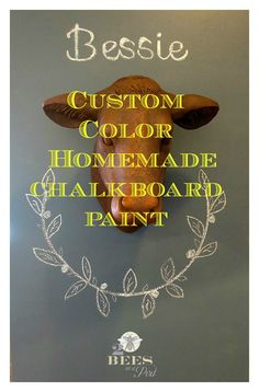 Custom Color Homemade Chalkboard Paint and Wall…
