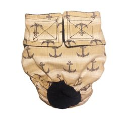 Dog Diapers  Made in USA  Gray Anchor on Beige Washable Dog Diaper S for Incontinence Housetraining and Dogs in Heat *** Visit the image link more details.-It is an affiliate link to Amazon. #CatLitter