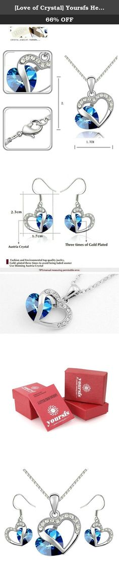 [Love of Crystal] Yoursfs Heart of Ocean Sapphire Necklace and Earrings Set 18k White Gold Plated. Warm tips: 1.Please avoid contacting with the acid and alkali, corrosive substances. 2.Please avoid the collision, so as to avoid surface scratches. 3.Please avoid wearing it when sweating a lot, shower or sleep, etc. 4.Please wipe them with soft cloth when you clean your jewelries. .