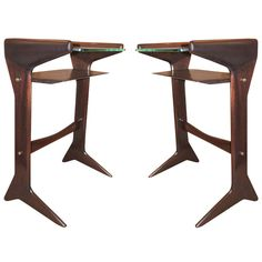 Diminutive Pair of Side Tables/Night Stands in the Manner of Ulrich | From a unique collection of antique and modern side tables at http://www.1stdibs.com/furniture/tables/side-tables/