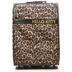 Amazon.com: Hello Kitty Leopard Print Carry-on Rolling Luggage:... ($180) via Polyvore