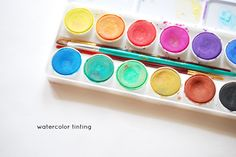 Tinting Embroidery with Watercolor Paints
