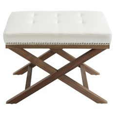 Modesto Tufted Bench in Ivory
