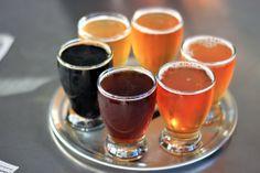 Sampling Faction Brewing, in Alameda, California