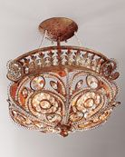 Shop La Crystal Semi-Flush Light Fixture at Horchow, where you'll find new lower shipping on hundreds of home furnishings and gifts. Crystal Light Fixture, Crystal Lights, Light Fixtures, Ceiling Fixtures, Crystal Chandeliers, Semi Flush Lighting, Home Lighting, Interior Lighting, Beautiful Lights