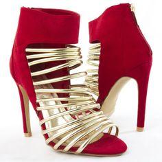 Bella Marie Womens 40-HELENA11 Heel Pumps RED