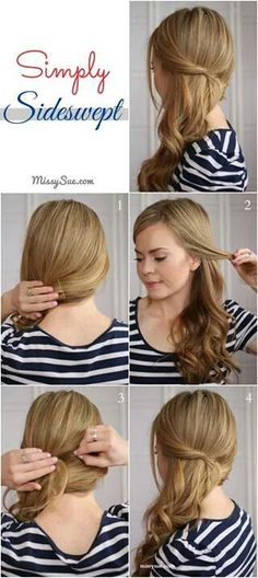 miss the new and creative easy side swept braided ideas. today i wanted to share some best easy and best easy side swept braided hairstyle for long curly hairs. it is easy to manage, quick to style and looks crisp and clean. Side Ponytail Hairstyles, Pretty Hairstyles, Braided Hairstyles, Hairstyles To The Side, Easy Diy Hairstyles, Side Ponytails, Side Braids, Short Hairstyles, Hairstyle Bridesmaid