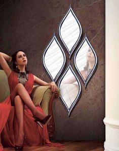Set of decorative mirrors in the form of LAGRIMAS Entrance Decor, Entryway Decor, Diy Mirror, Home Decor Furniture, Home Decor Accessories, Wall Design, Home Interior Design, Trends, Architecture