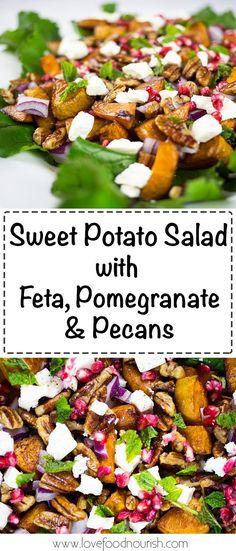 Sweet Potato Salad with Pomegranate, Feta & Pecans…
