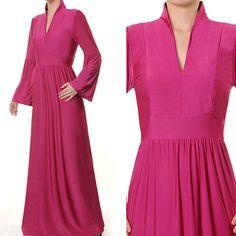 High Collar Muslim Islamic Jersey Abaya Long Sleeves by MissMode21, $34.00